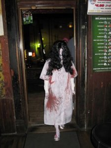Mary Hatchet visits bars on campus.