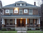 The Theta Phi Alpha sorority house. Photo source TPA.