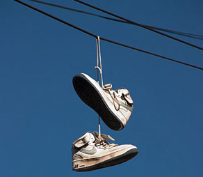 Tennis Shoes Power Lines Drugs