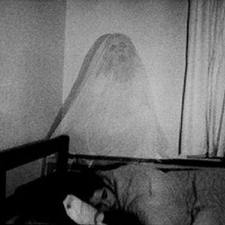 Ghost above bed