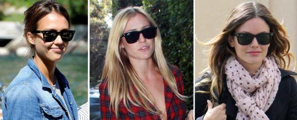 Spring 2011 Celeb Fashion Trends - Ray Ban Wayfarer Sunglasses