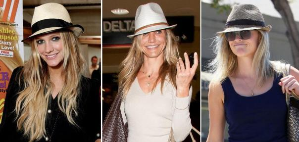 Spring 2011 Celeb Fashion Trends - Straw Hats - Trilby or Fedora