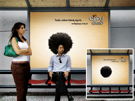 'Real Hip Hop' Bus Stop Ad
